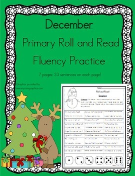 Roll and Read Reading Fluency: December