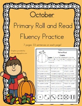Roll and Read Reading Fluency: October
