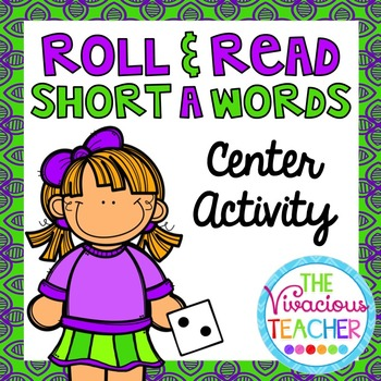 Short A (CVC Words and Nonsense Words) Roll and Read Games