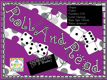 Roll and Read Skills for First 9 Weeks of Kindergarten FLU