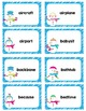Compound Words Roll and Read Snowmen Game