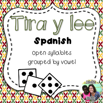 Roll and Read Spanish Syllables