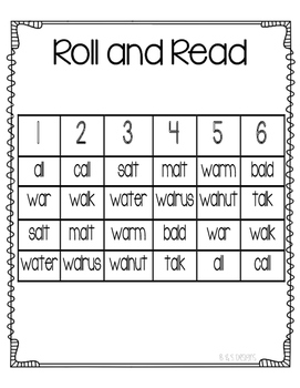 Roll and Read a as in ball
