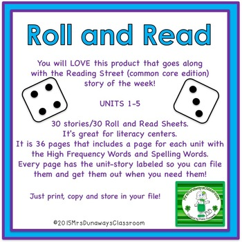 Roll and Read for Reading Street - Gr. 1