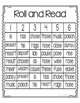 Roll and Read s as in is