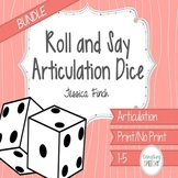 Roll and Say Articulation Dice Bundle (Later Developing Sounds)