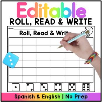 Roll and Write Editable Spanish & English