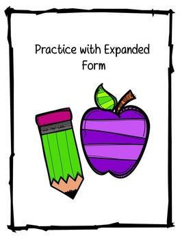Roll and Write Expanded Form