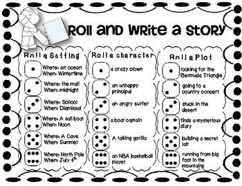 Roll and Write Freebie