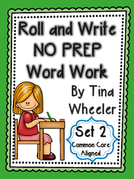 Roll and Write NO PREP Word Work Set 2