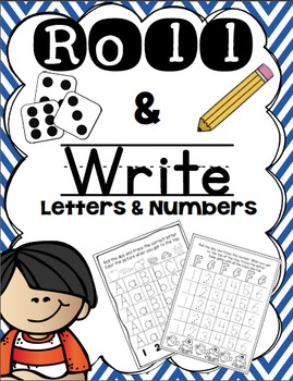 Roll & Write Numbers and ABC's