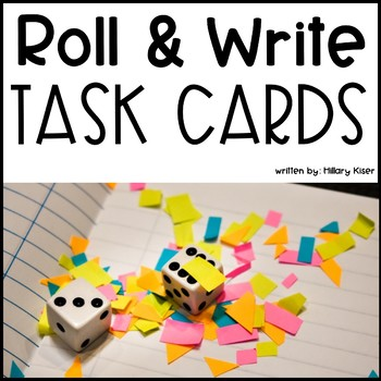 Roll and Write Reading Task Cards