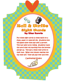 Roll and Write Sight Words - 100 pack