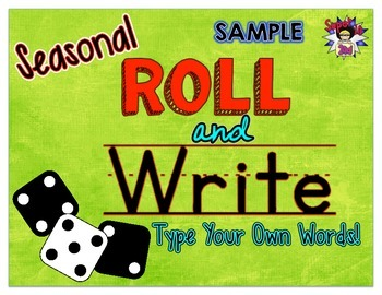 Roll and Write: Use Your Own Words FREEBIE