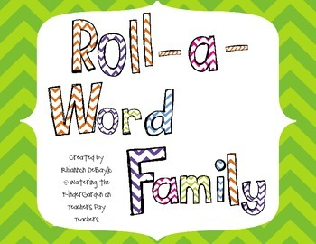 Roll and Write Word Families