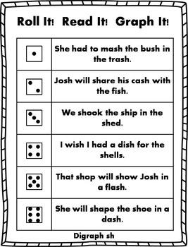 Roll it! Read It! Graph It! - Digraph Sentences