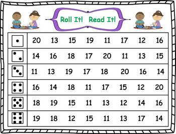 Roll it! Read It! Numbers 11-20