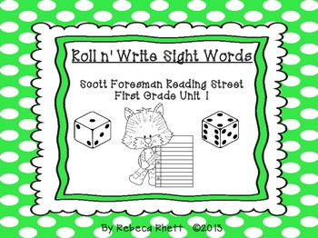 Roll n' Write-Scott Foresman Reading Street for First Grad