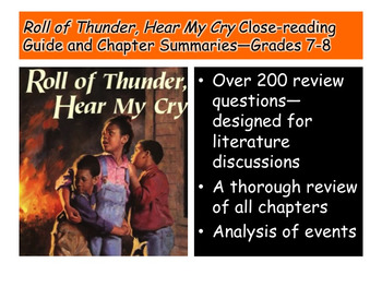 Roll of Thunder, Hear My Cry Close-reading Guide and Summa