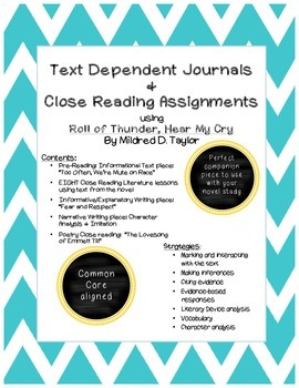 Roll of Thunder, Hear My Cry: Text Dependent Journals and