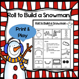 Roll to Build a Snowman Math Game
