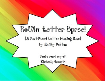 Rollin' Letter Spree! (A Fast-Paced Letter Naming Race)