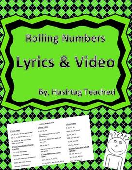 Rolling Numbers 2s - 12s Multiplication Chant Lyrics