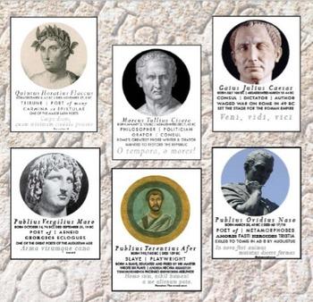 Roman Authors Poster Set