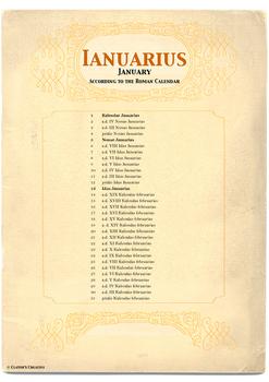 Roman Calendar Poster