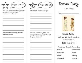 Roman Diary Trifold - Wonders 6th Grade Unit 2 Week 3