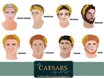 Roman Emperors: The Caesars Clip Art Set