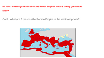 Roman Empire and Feudalism Do Now or Entry Questions