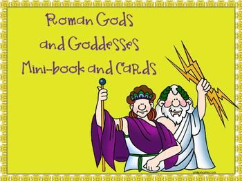Roman Gods & Goddesses Mini-book and Cards