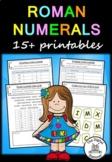 Roman Numerals – 17 printables/activities