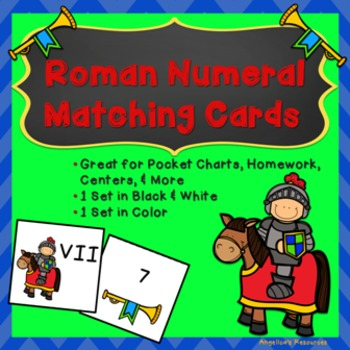 Roman Numerals: Matching Cards