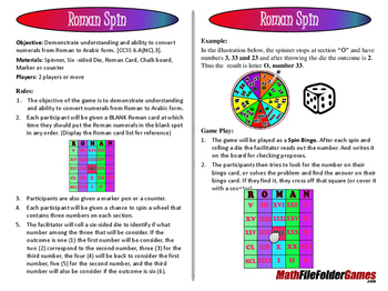 "Roman Spin - Convert Numerals from Roman to Arabic Form ""B"