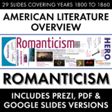 Romanticism, American Literature Movement, from Transcende