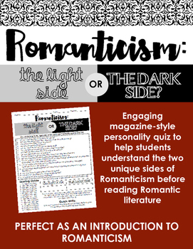 Romanticism: Light Side or Dark Side? Quiz -- Perfect as a