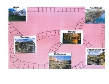 """Rome """"Clue"""" Board Game"""