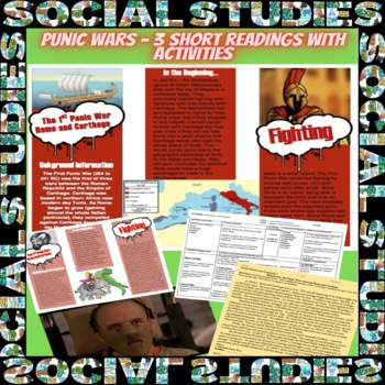 Rome: Punic Wars Lesson Plan with Guided Reading and Graph