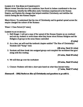 Rome: The Rise of Christianity Lesson Plan