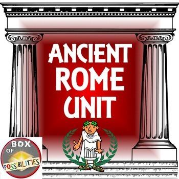 Rome Unit - Ancient Rome: Readings, activities & worksheet