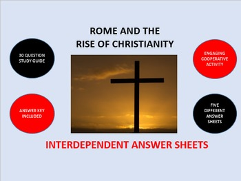 Rome and the Rise of Christianity: Interdependent Answer S