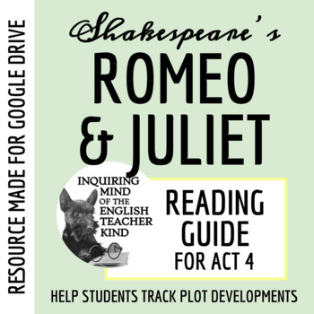 Romeo & Juliet Guide - Act 4 (Common Core Aligned)