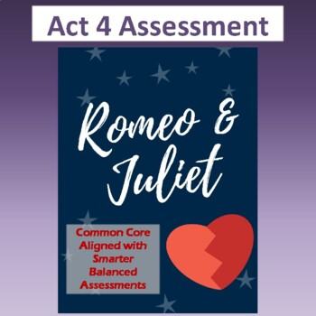 Romeo & Juliet: Assessment for Act Four (Test aligns with