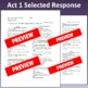 Romeo & Juliet: Assessment for Act One (Test aligns with C