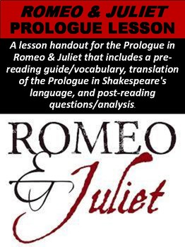 Romeo & Juliet Prologue Lesson