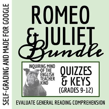 Romeo & Juliet Quiz Bundle (Set of 5)