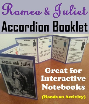 Romeo and Juliet Interactive Notebook Foldable (Fun Hands