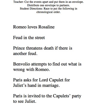 Romeo and Juliet Act 1 Post Read